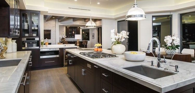 open kitchen space